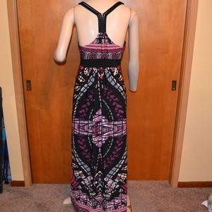 Arden B Strapless Maxi Dress Purple Black Size M